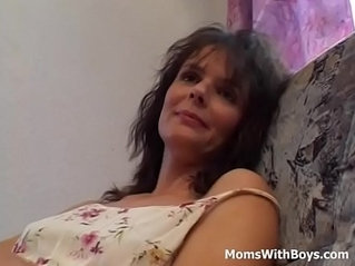 Horny Cougar Gives A Masturbation Show In Private