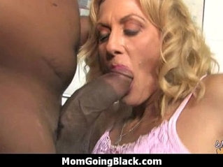 Horny MILF sucks and fucks young black monster dick stud 30