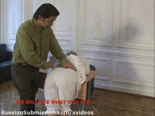 Russian babe must stubmit to the wild orders of a horny officer