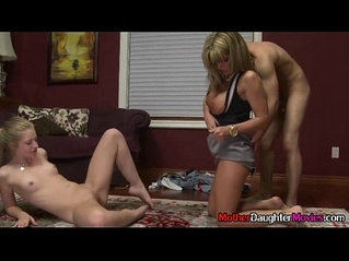 Horny Moms And StepDaughter Sex During