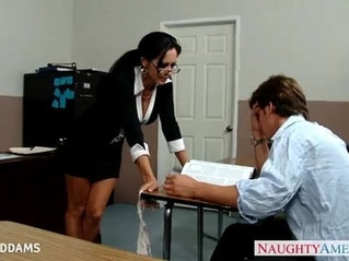 Teacher in glasses Ava Addams gets tits fucked