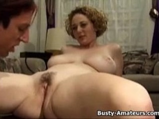 Busty Samantha suck cock and pussy licked