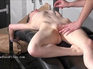 Brutal sub blowjobs and rough slave sex of play piercing masochist in submissive