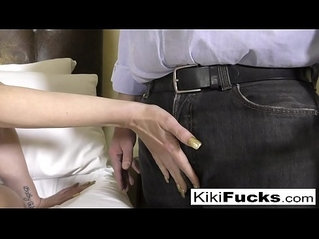 Kiki gets caight playing around with herself by her horny Uncle!