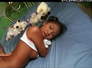 Little Jade Marcela clutches her doll gets her ass fucked before school