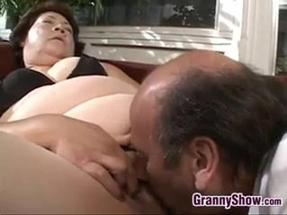Large Grandma Pleasing Cock Fucking