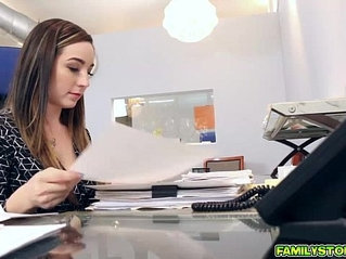 Bambi Brooks sucks and gags her Dads cock