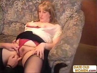 Old man and old woman have a hardcore anal fucking