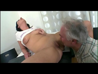 Old rod rams young cunt and mouth