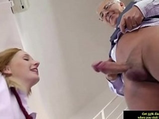 Teen amateur riding on old man dick in high def