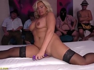 hot busty flexi milf first time gangbang