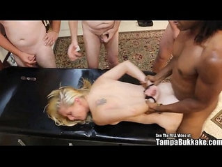 Tampa Bukakke Girls handcuffed blonde webcam girl gangbang ft. Laura