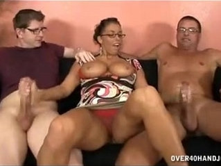 Busty brunette Milf Meets Step son For The First Time