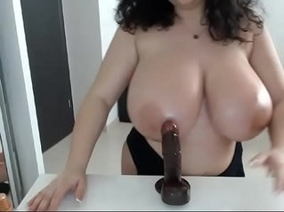 Great tits playing titjob live porn